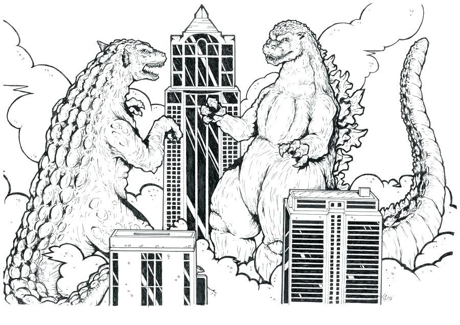 900x636 Godzilla Coloring Pages Coloring Godzilla Vs Mechagodzilla