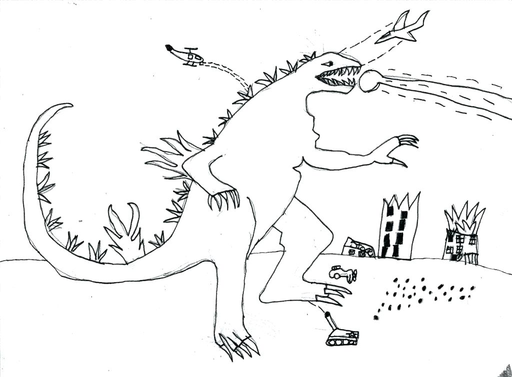 1024x755 Godzilla Coloring Pages Coloring Pages Coloring Page Great