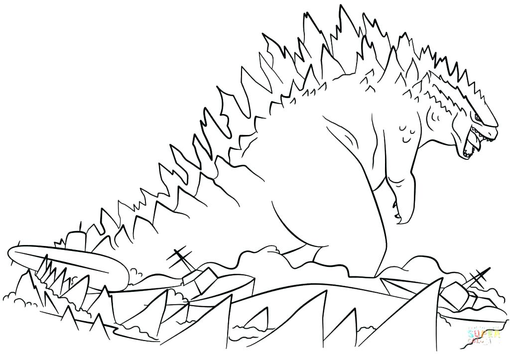 1024x711 Godzilla Coloring Pages Coloring Pages For Kids Godzilla