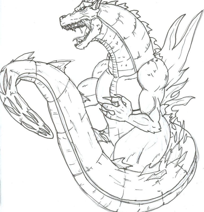 864x900 Adults Godzillaoloring Pages Vs Mothra Muto Space Godzilla