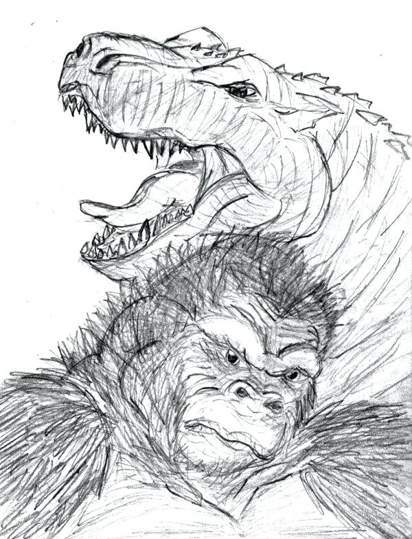600x785 Godzilla Coloring Pages Coloring Pages With Baby Godzilla Vs