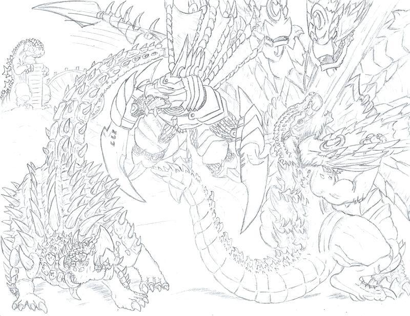 800x616 Godzilla Vs Mechagodzilla Coloring Pages Complete Kids Promo