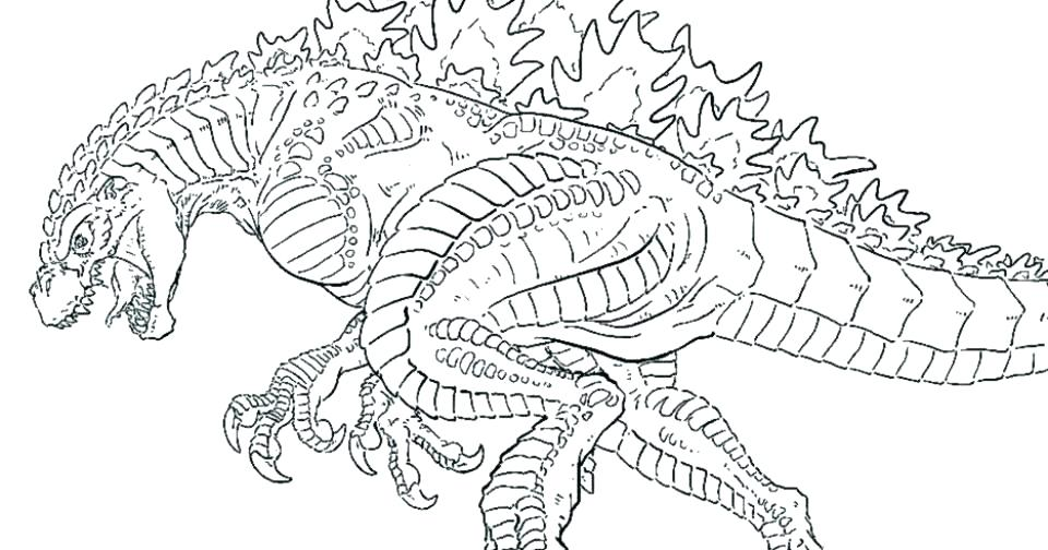 960x504 Coloring Godzilla Coloring Page Printable Free Pages On Art Vs
