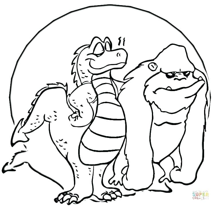 750x717 Godzilla Coloring Page Coloring Pages With Baby Godzilla Vs