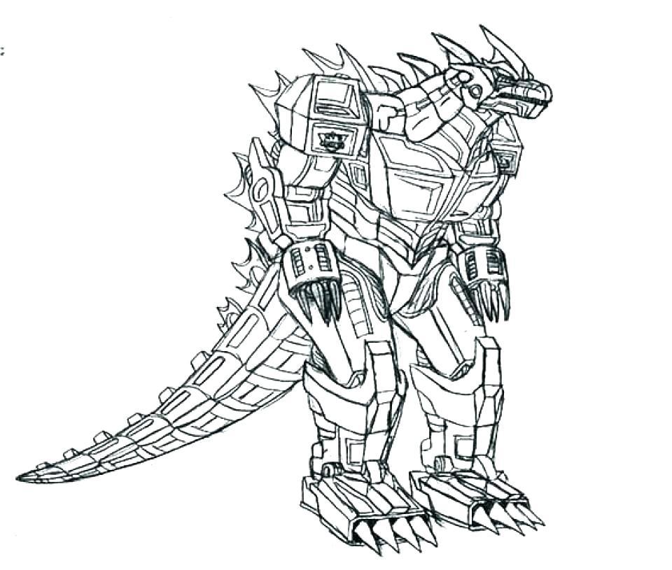 960x815 Godzilla Coloring Pages