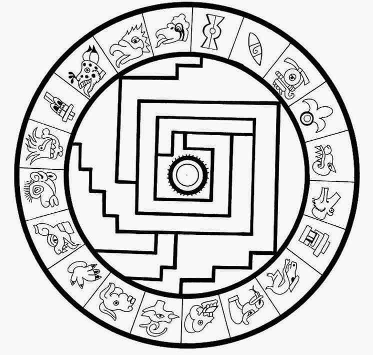 746x709 Indian Aztec Mandala Coloring Pages Worksheet