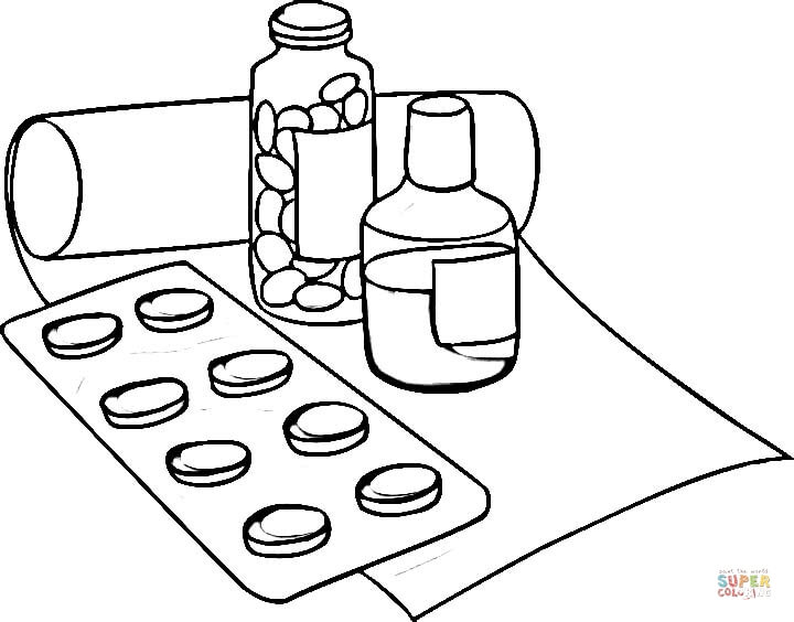 720x564 Medicine Coloring Pages