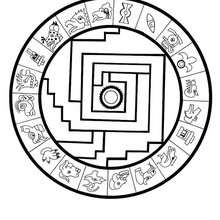 220x220 Medicine Wheel Mandala Coloring Pages