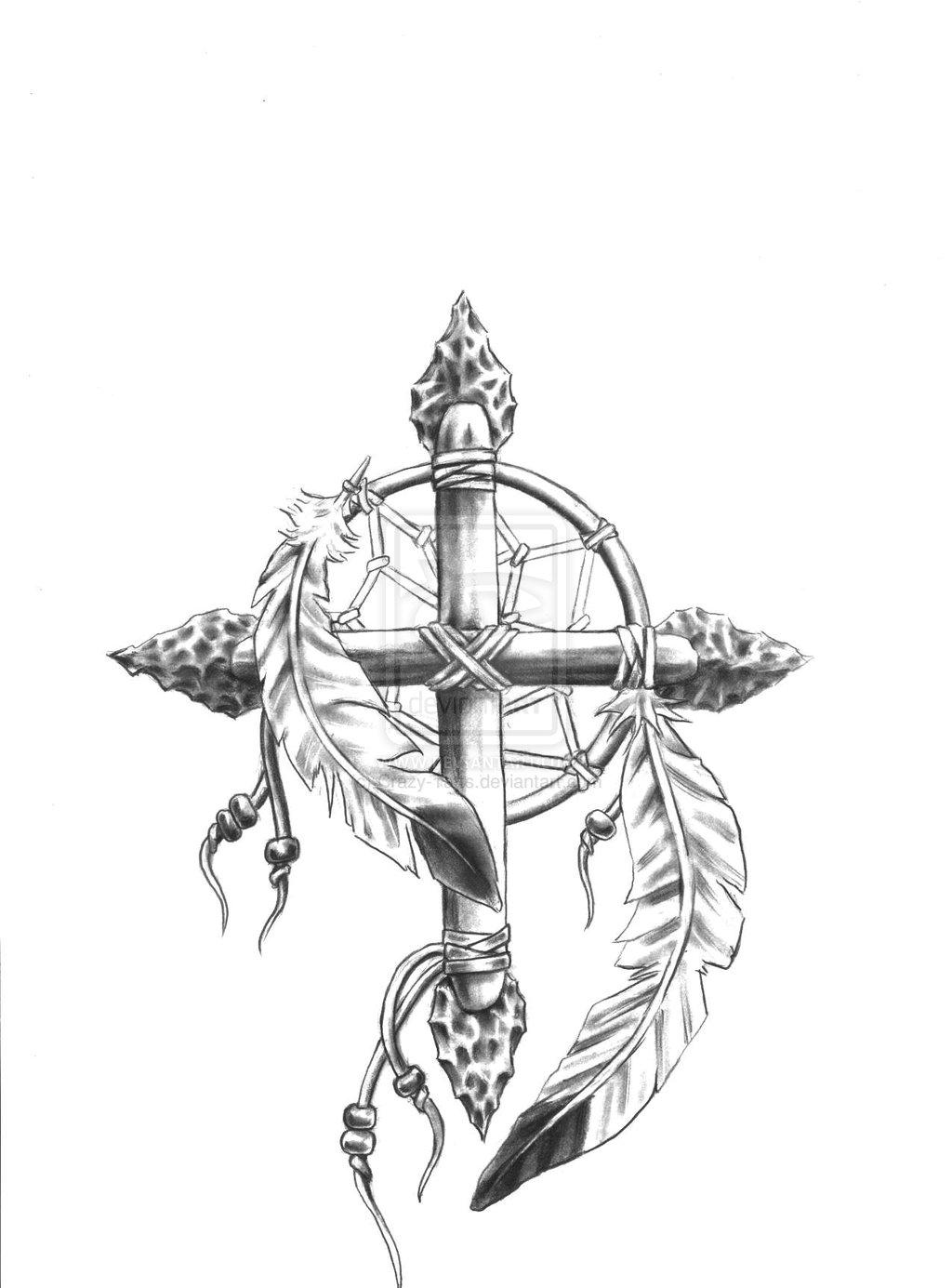 1024x1385 Sketch For Medicine Wheel Cross Dream Catcher Comb