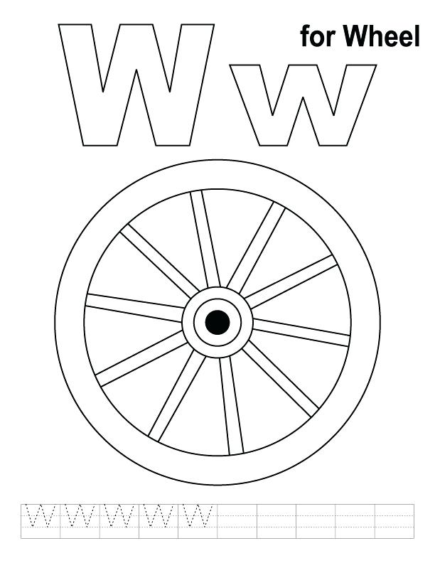 612x792 Wheel Coloring Page W For Wheel Coloring Page With Handwriting