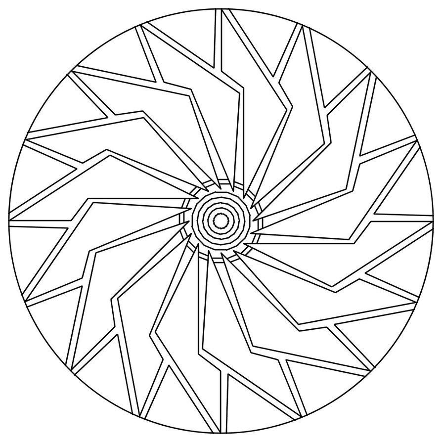 894x894 Coloring Pages Mandala
