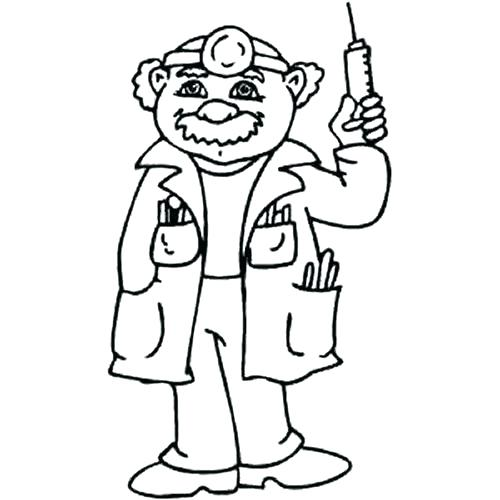 500x500 Doctor Coloring Page Doctor Coloring Pages Printable Doctor