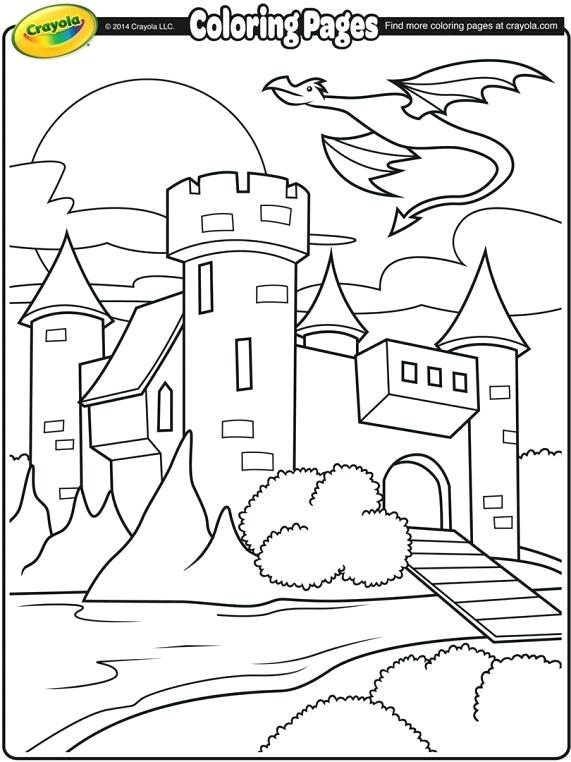 Medieval Dragon Coloring Pages