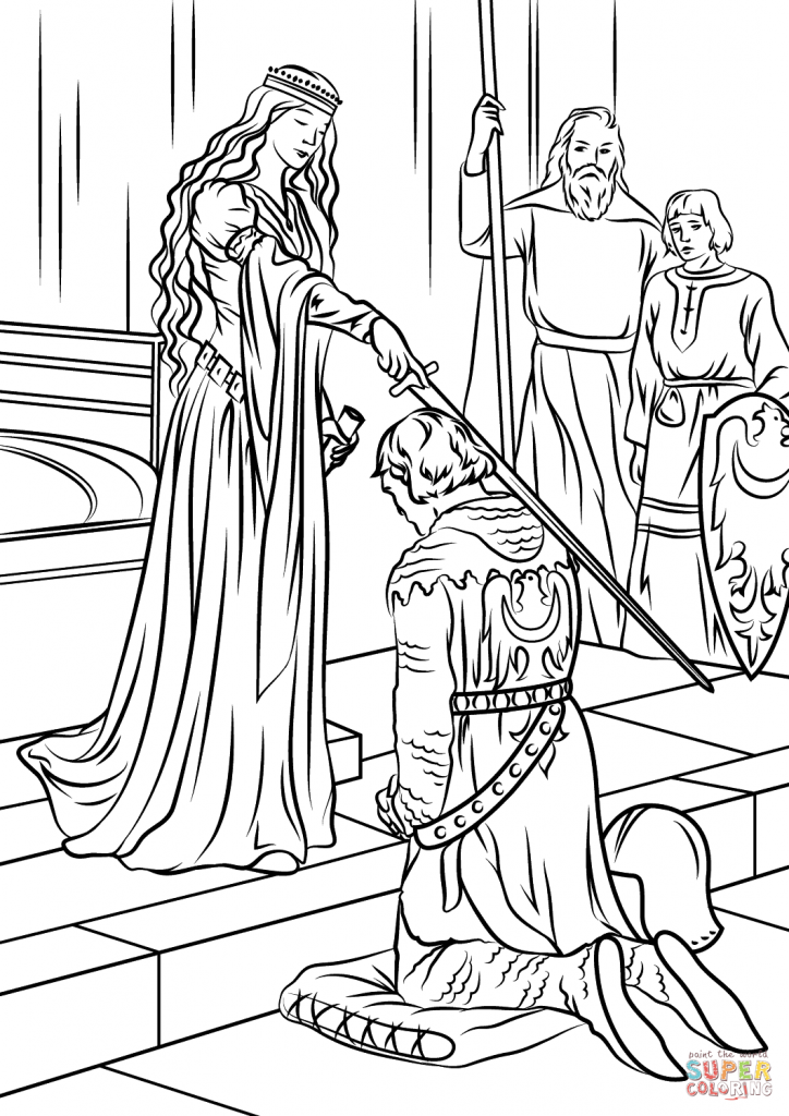 724x1024 Medieval Coloring Pages