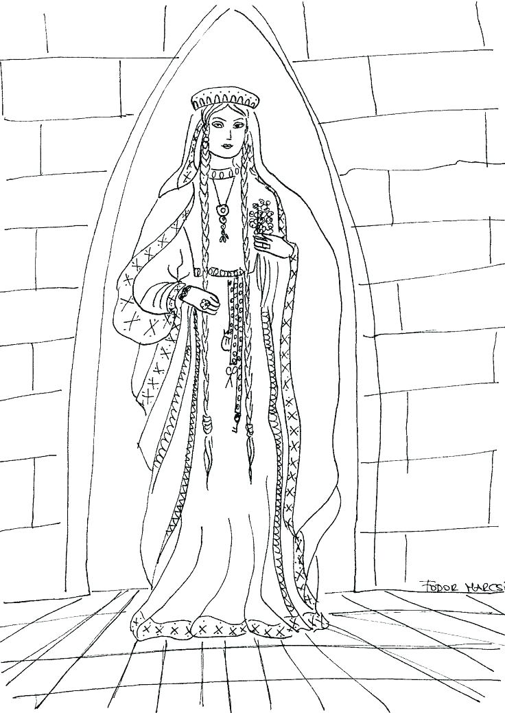 736x1038 Medieval Princess Coloring Pages Medieval Coloring Pages Medieval