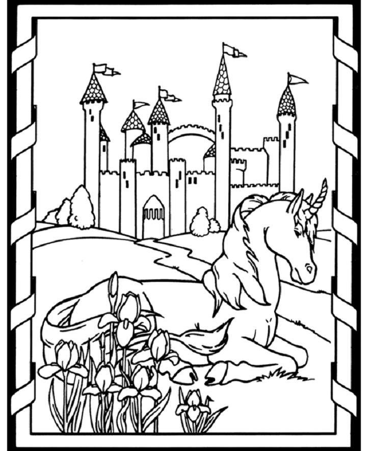 724x885 Printable Medieval Coloring Pages