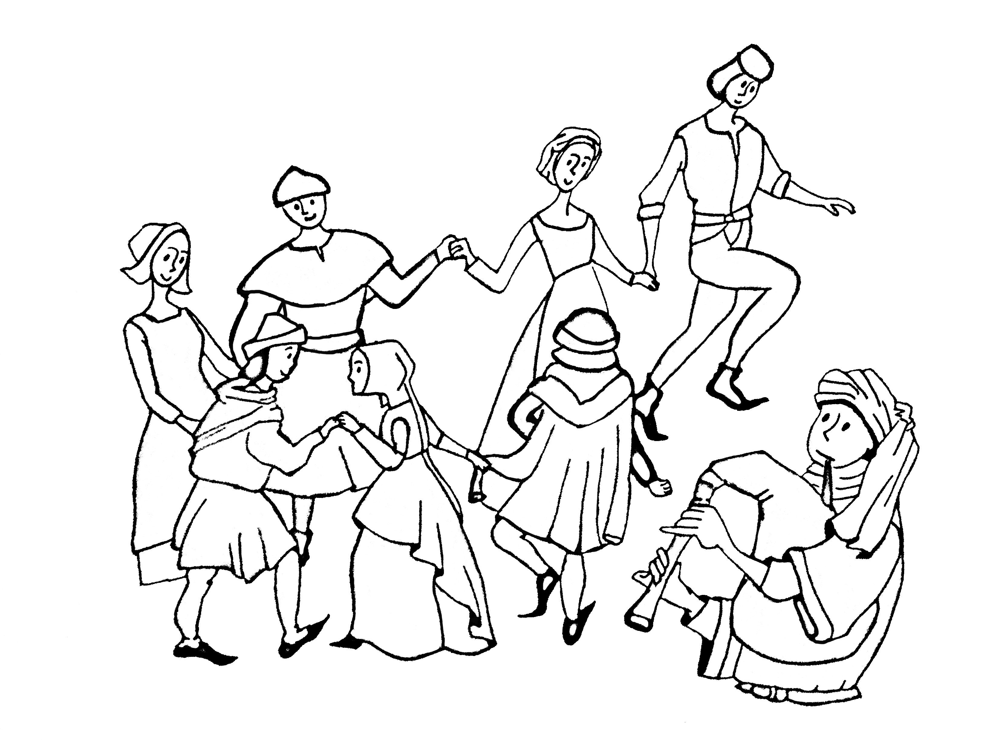 3264x2448 Free Coloring Page Coloringdult Middlege Danse Drawing