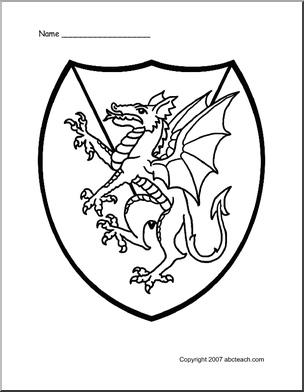 304x392 Medieval Classroom Theme Of Coloring Page Medieval Shield