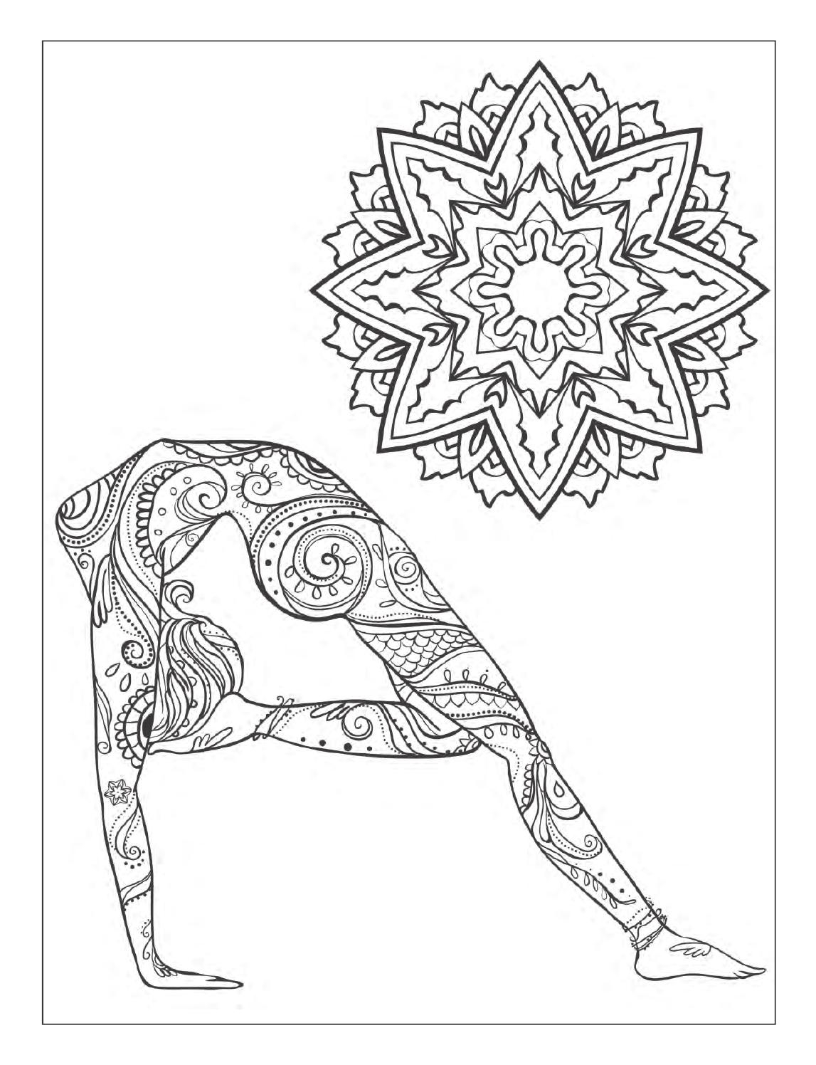 The best free Yoga coloring page images. Download from 133 free ...