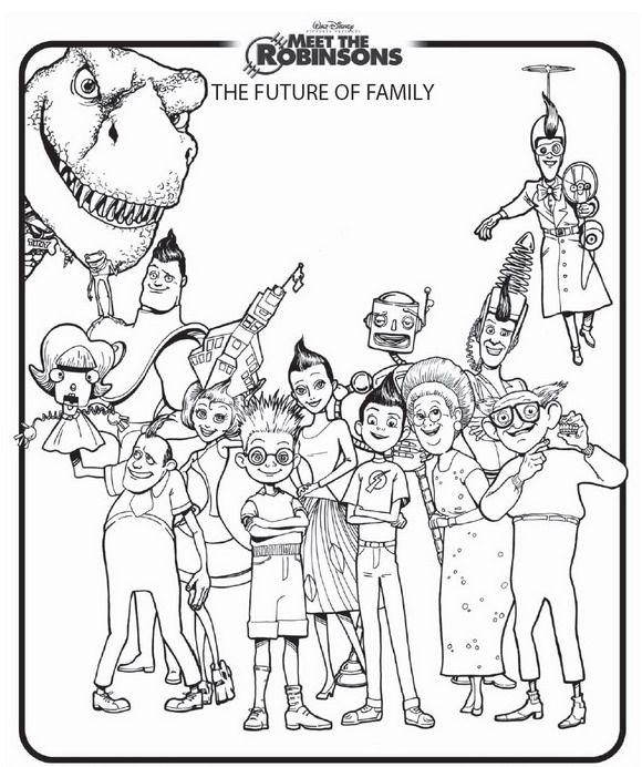 580x692 Coloring Page Meet Robinsons Kids N Fun Disney Meet