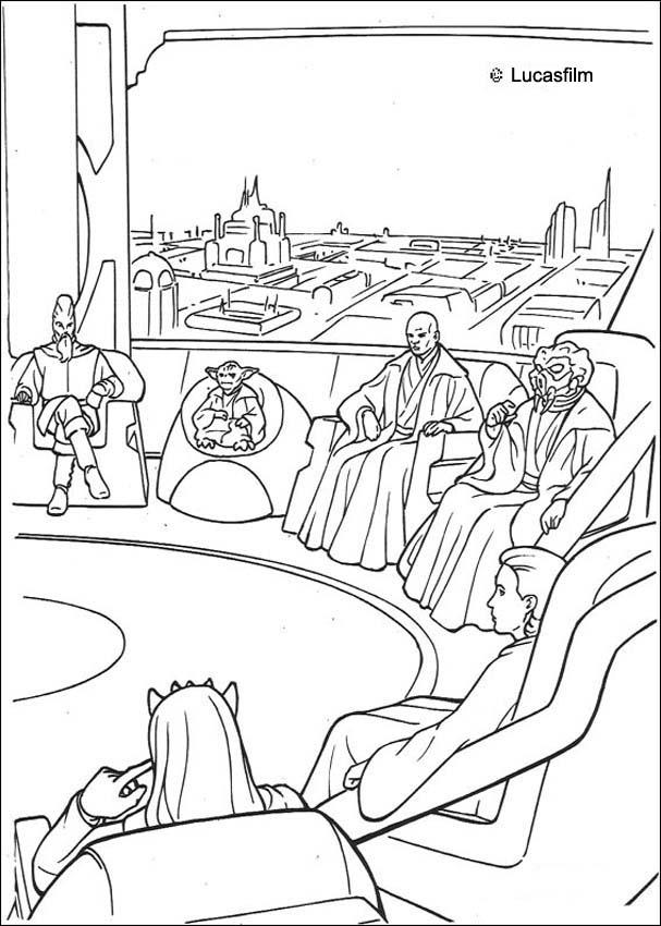 607x850 Knight Jedi Meeting Coloring Pages