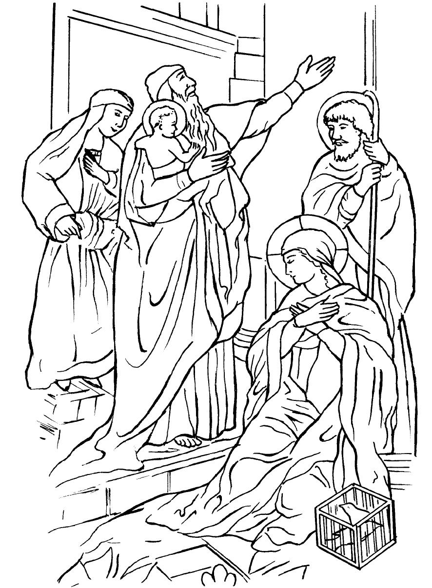 886x1207 New Coloring Pages For Bible Story About Simon And Anna Meeting