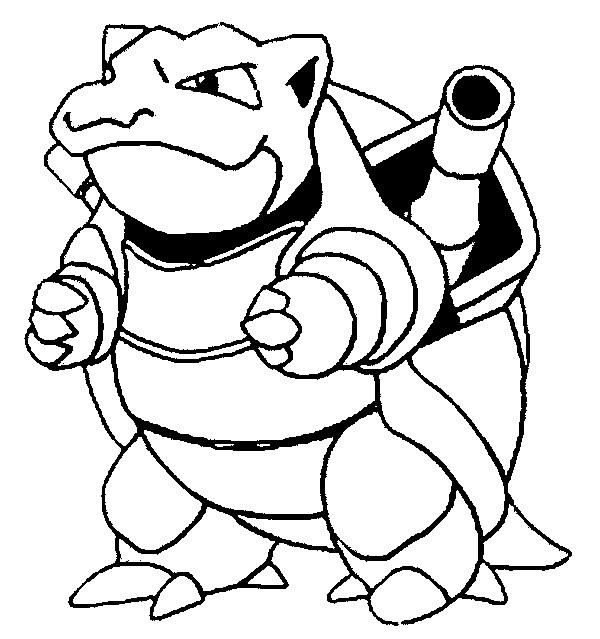 600x639 Blastoise Coloring Page Coloring Pages Pokemon Blastoise Drawings