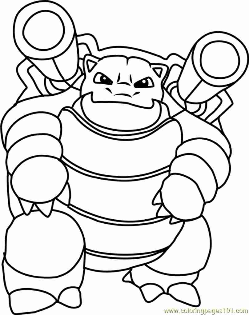 809x1024 Mega Blastoise Coloring Pages Pokemon Cartoons Page Stock Photos