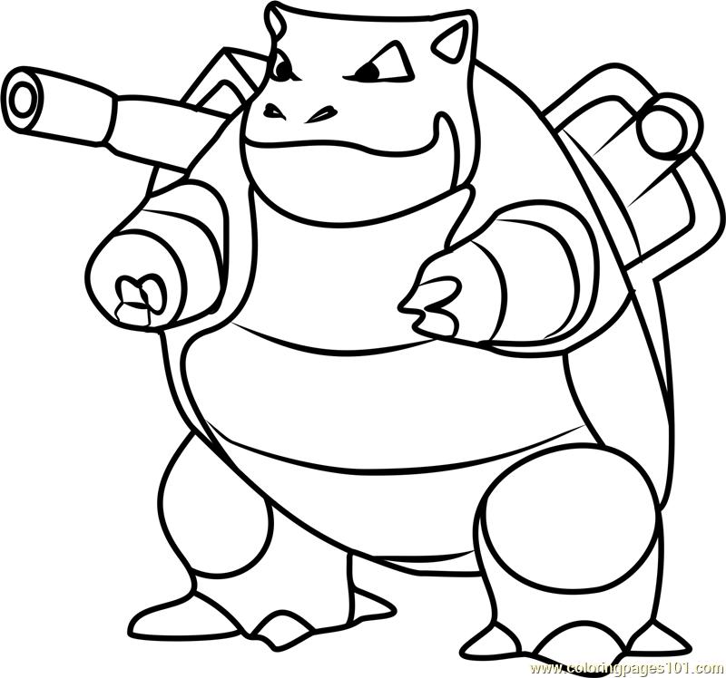800x748 Pokemon Coloring Pages Blastoise Mega Blastoise Coloring Page