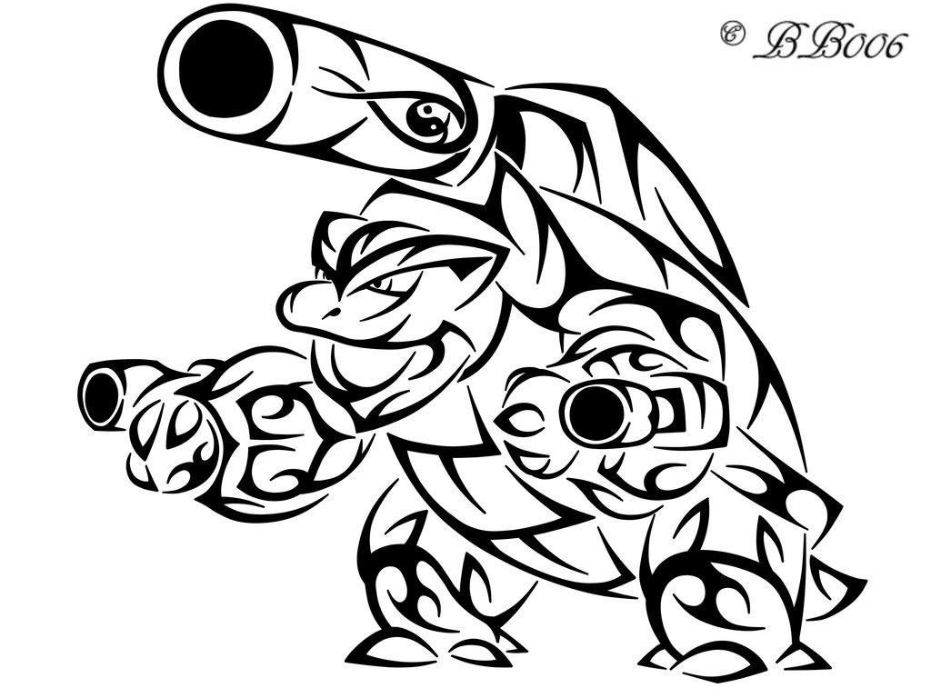 1024x768 Tribal Mega Blastoise Pokemon Coloring Pages