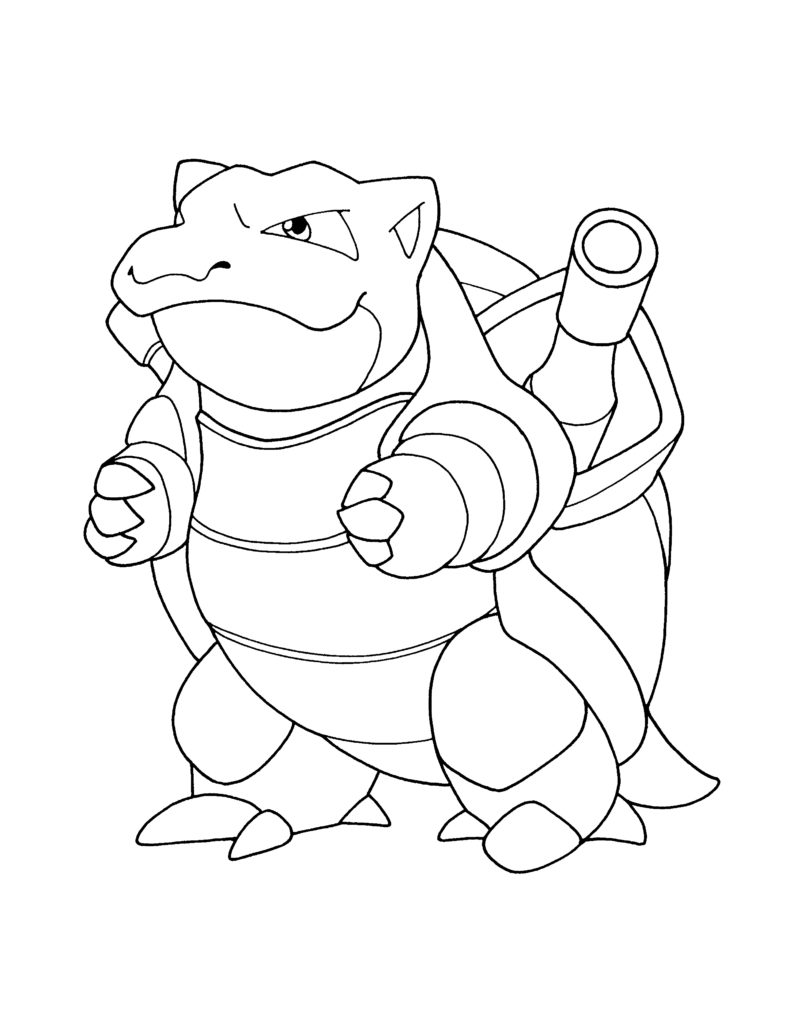 793x1024 Value Pokemon Blastoise Coloring Page Drawing