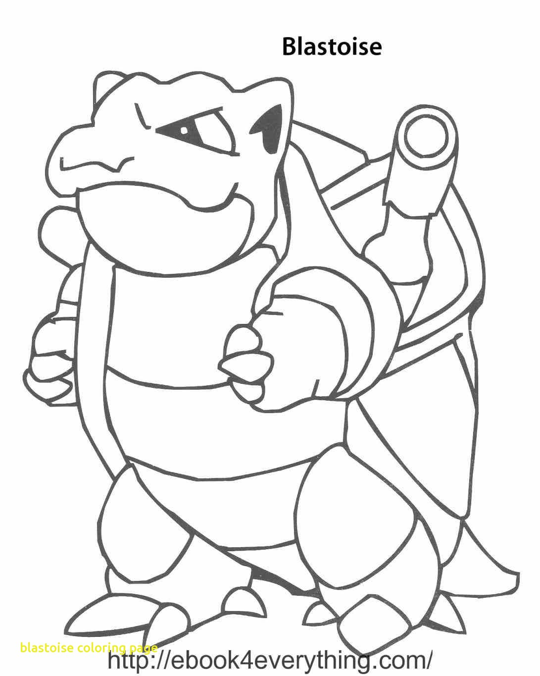 1091x1365 Blastoise Coloring Page