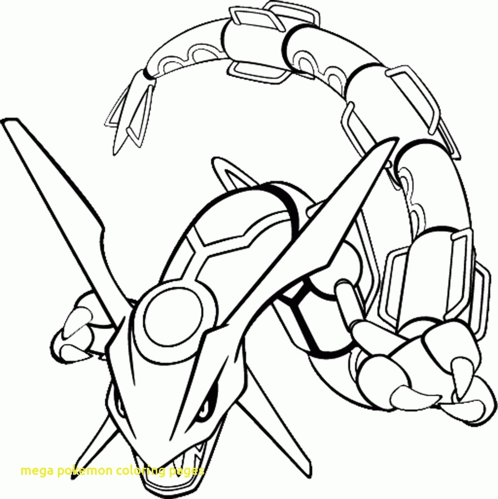 Mega Charizard X Coloring Page