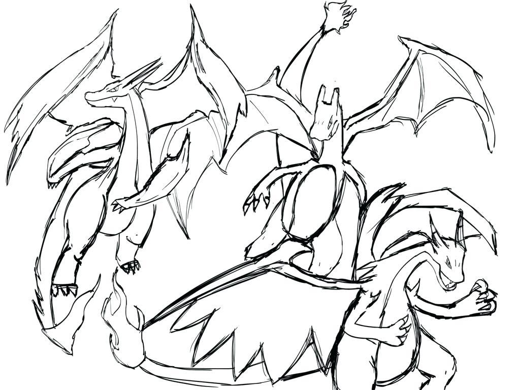 1024x768 pokemon coloring pages mega charizard x