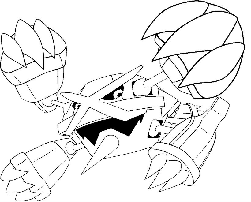 820x660 Coloring Pages Mega Evolved Pokemon Drawing