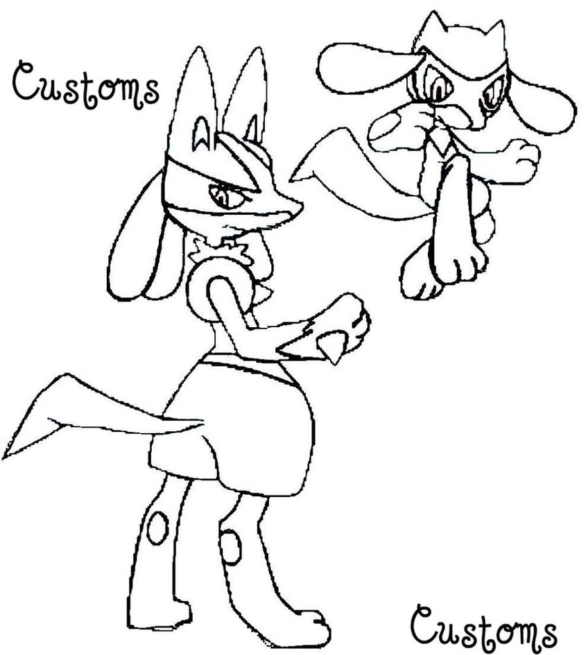 845x945 Coloring Pages Of Lucario