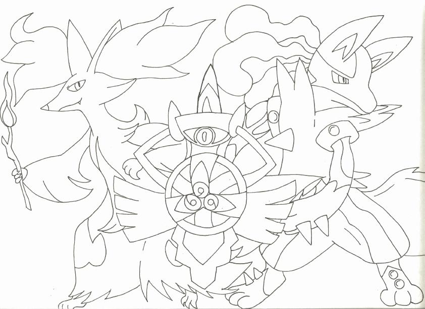 842x613 Mega Lucario Coloring Page Image Image Result For Pokemon Lucario