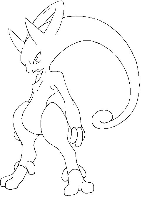 Mega Mewtwo Coloring Pages