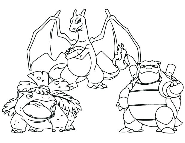 Mega Pokemon Coloring Pages Printable At Getdrawings Com Free For