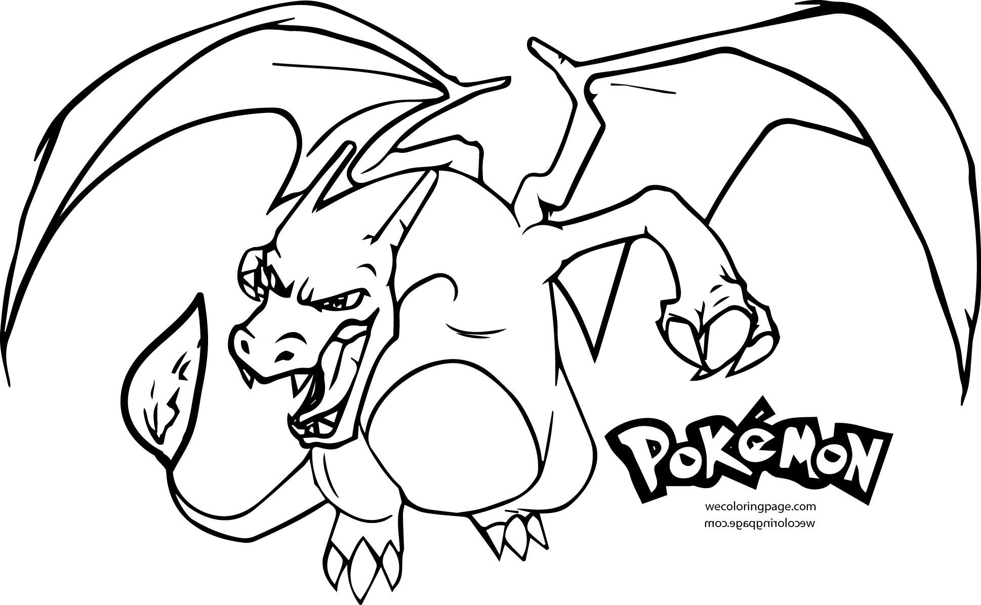 1938x1195 Pokemon Mega Charizard Coloring Pages
