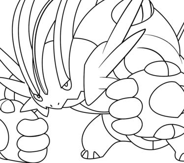 374x332 Pokemon Onix Coloring Page