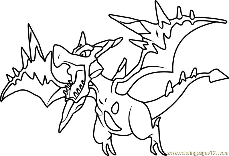 800x546 Mega Aerodactyl Pokemon Coloring Page