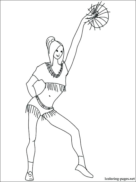 560x750 Cheer Coloring Pages Coloring Pages Cheerleader Coloring Pages