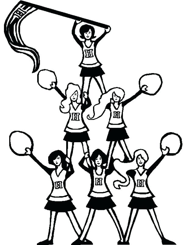 The best free Cheerleader coloring page images. Download ...