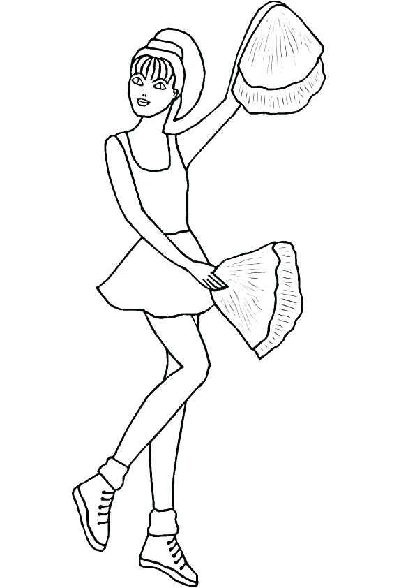 595x842 Cheerleaders Coloring Pages Cheerleader Coloring Pages Cute Girl