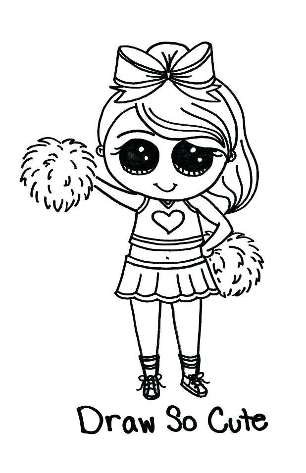 618x956 Cheerleading Coloring Pages Coloring Pages Cute Cheerleader