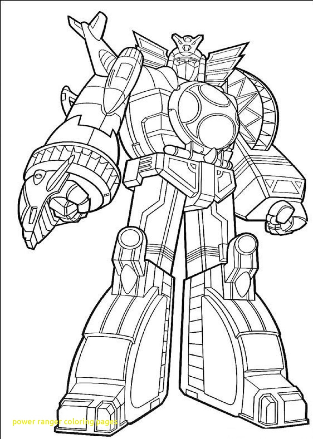 Megazord Coloring Pages