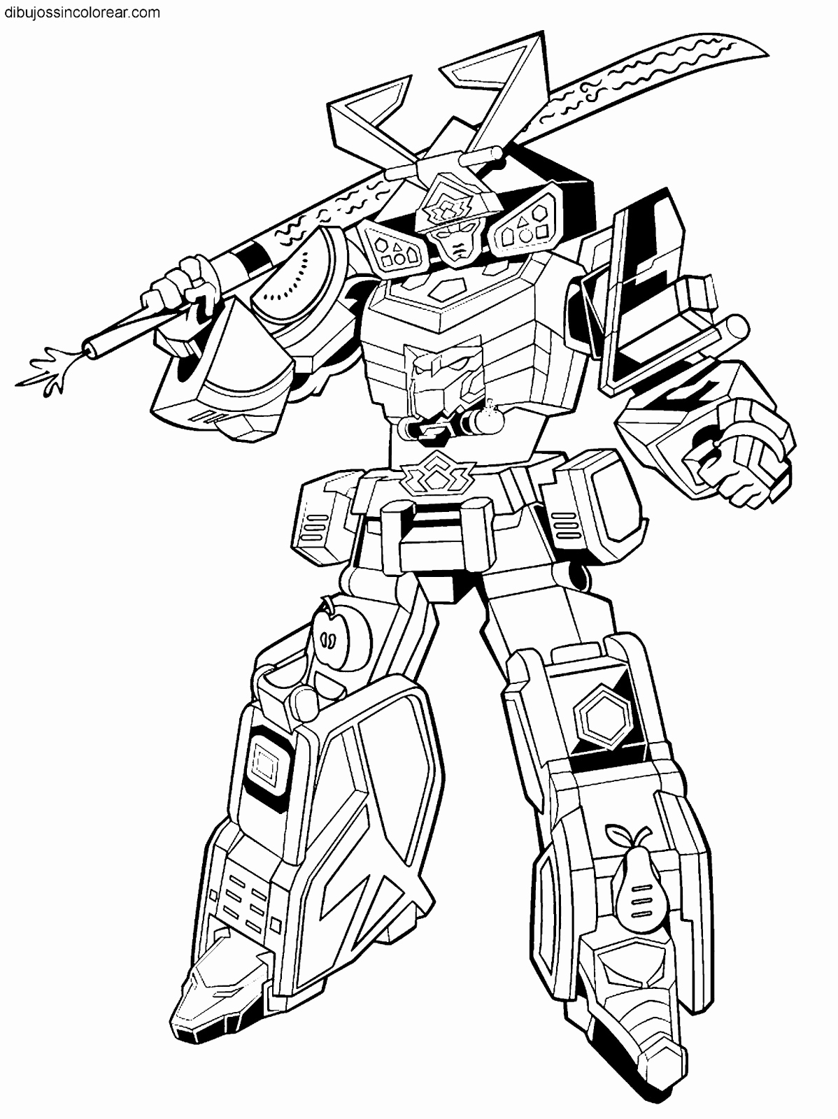 Power ranger megazord coloring pages ~ The best free Morphin coloring page images. Download from ...