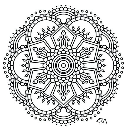 433x445 Henna Coloring Pages Tics Coloring Mandalas For Adults