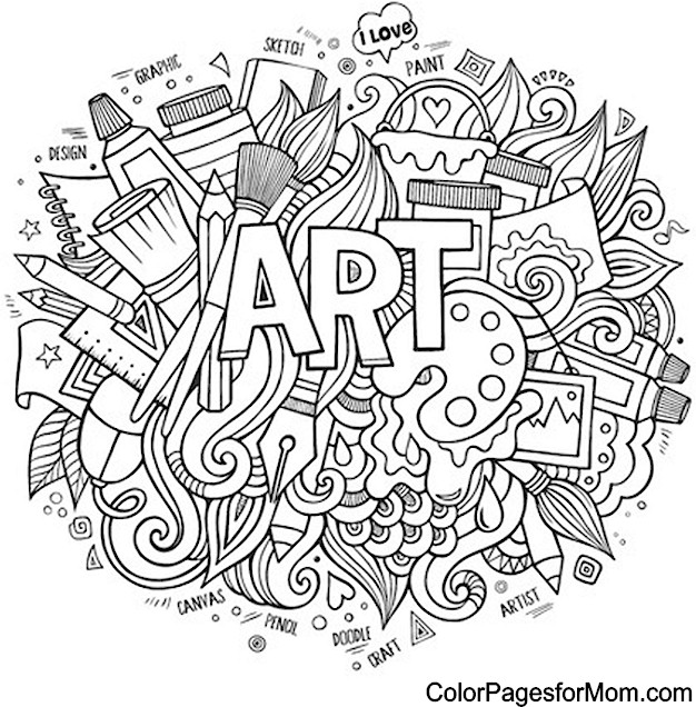 626x636 Interesting Design Art Coloring Pages Colouring To Amusing